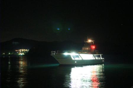 海ホタルクルージング(ナイトクルージング)弓ヶ浜!
